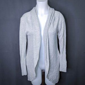 Leith Womens Cardigan Sweater Small Gray Open